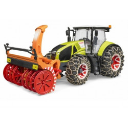 Tracteur miniature CLAAS AXION 950 FRAISE A NEIGE BRUDER