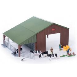 Hangar avec animaux et personnage 43139 Britains 1/32