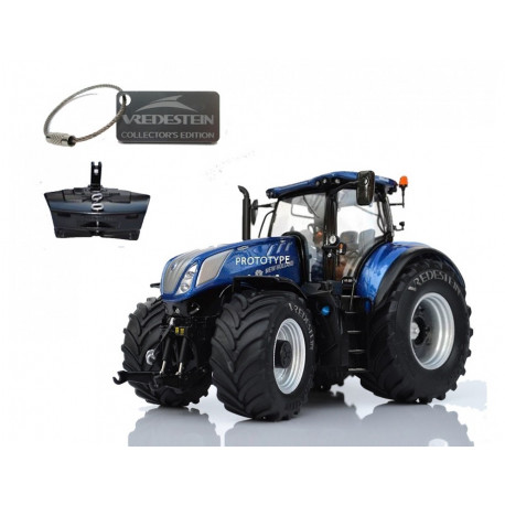 TRACTEUR NEW HOLLAND T7.315 BLUE POWER VREDESTEIN M1609 Marge Models 1/32