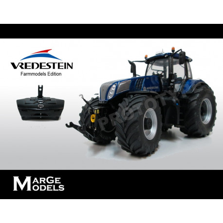 TRACTEUR NEW HOLLAND T8.435 BLUE POWER VREDESTEIN M1708 Marge Models 1/32