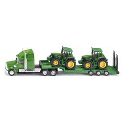 Semi-remorque + 2 tracteurs JOHN DEERE 1837 SIKU 1/87
