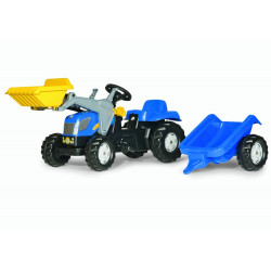 TRACTEUR A PEDALE RollyKid NEW HOLLAND T7040 023929 ROLLY TOYS