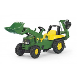 TRACTEUR A PEDALES Rolly Junior JOHN DEERE CONSTRUCTION 811076 ROLLY TOYS