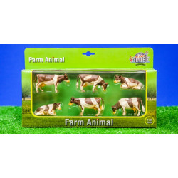 6 Vaches NORMANDES 570010 Kids Globe Farming 1/32