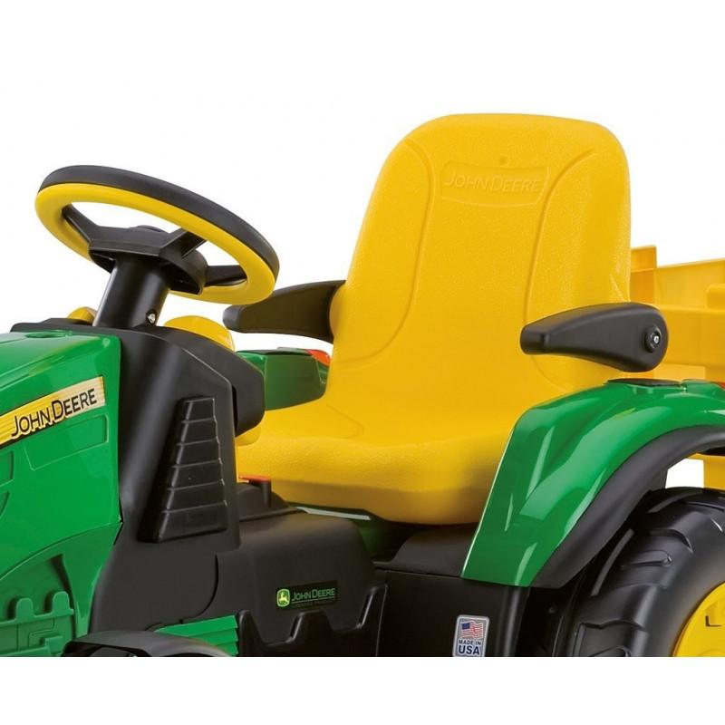 tracteur lectrique 12v john deere ground force or0047 peg perego. Black Bedroom Furniture Sets. Home Design Ideas