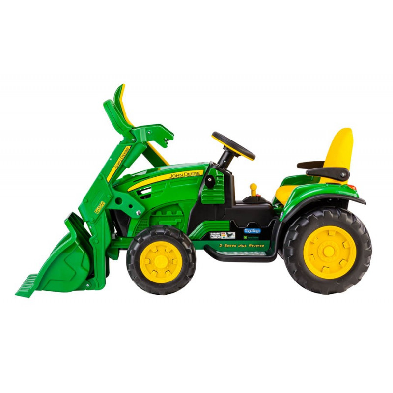 tracteur lectrique 12 volts john deere loader or0068 peg perego. Black Bedroom Furniture Sets. Home Design Ideas