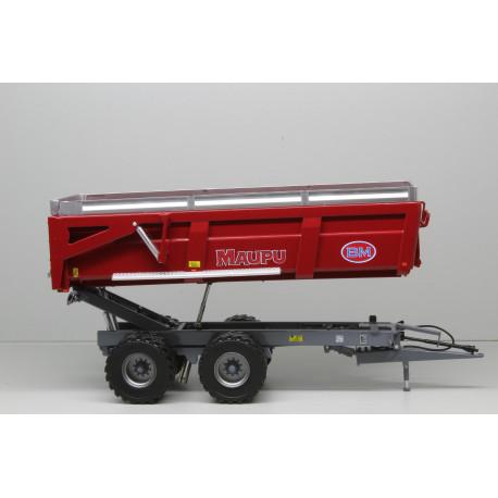 Benne MAUPU 2 essieux 18T EVO 71-26 Rouge REP179 REPLICAGRI 1/32