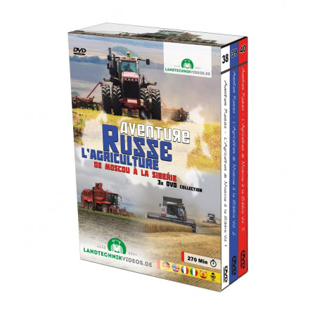 PACK 3 DVD L'AGRICULTURE RUSSE Tome 1-2-3 CD00402
