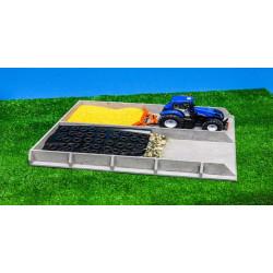 Silo ensilage imitation béton 610117 Kids Globe Farming 1/32