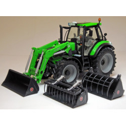 Tracteur miniature DEUTZ AGROTRON 6190C CHARGEUR W1046