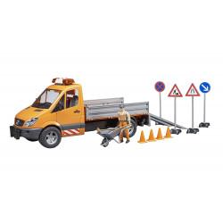 Camion MERCEDES-BENZ COMMUNAL + accessoires 2537 BRUDER