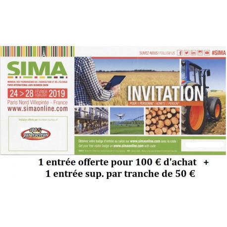 Invitation visiteur SIMA 2019