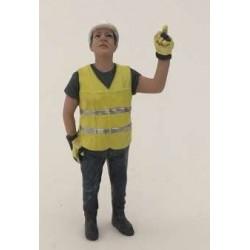 Personnage de chantier levant le doigt AT32145 AT-COLLECTION 1/32