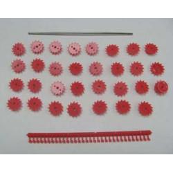 Rouleaux Paker (31 pièces) + axe - DE011