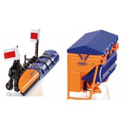 Pack-schmidt-lame-neige-tarron-ms32.1-epandeur-sel-Traxos-FS12 W7388+7389 WIKING 1/32
