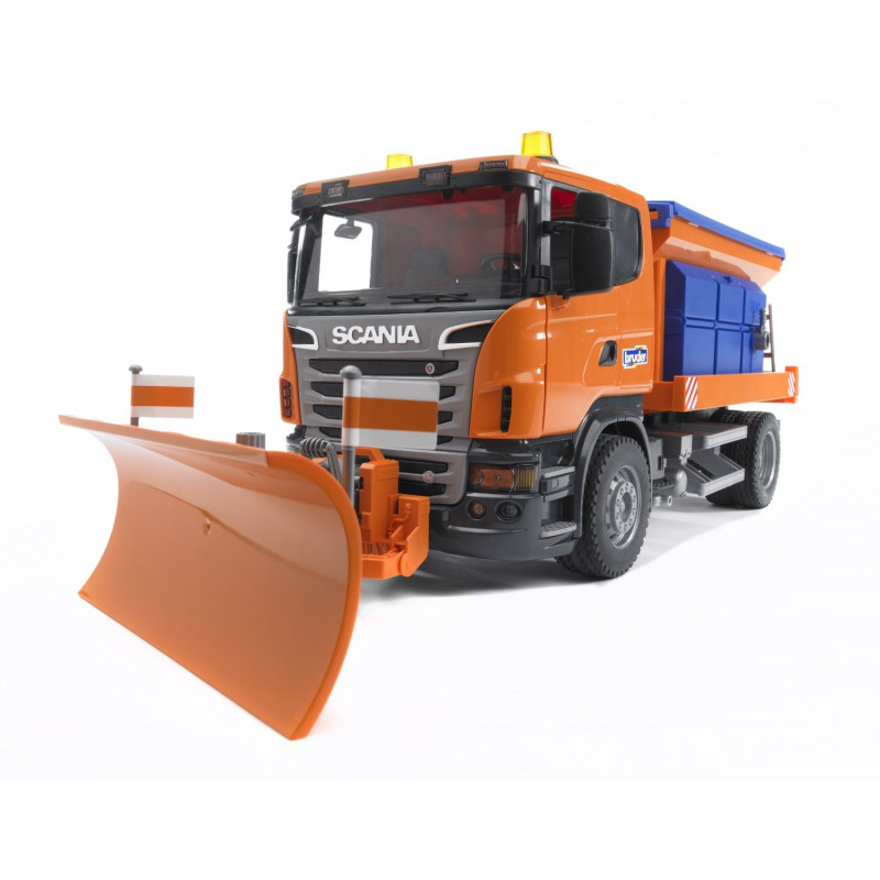 Camion scania serie r deneigement 3585 bruder 1 16 for Interieur camion scania