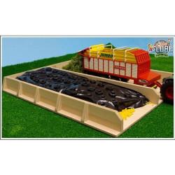 Silo ensilage 2 espaces bois 610451 Kids Globe Farming 1/32