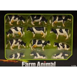 12 Vaches HOLSTEIN 571929 Kids Globe Farming 1/32