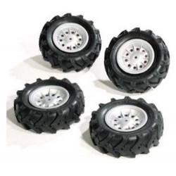 4 pneus gonflés pour tracteurs FarmTrac 409181 ROLLY TOYS