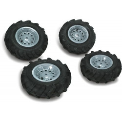 4 pneus gonflés pour tracteur X-Trac et FarmTrac 409242 ROLLY TOYS