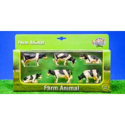 6 Vaches HOLSTEIN 570009 Kids Globe Farming 1/32