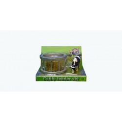 Ratelier + 1 Vache HOLSTEIN + 1 balle 571961 Kids Globe Farming 1/32