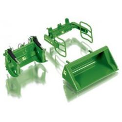 3 accessoires verts pour chargeur Wiking 1/32 W7381