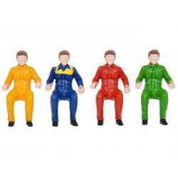 4 chauffeurs miniature BRITAINS 43203