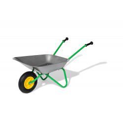 Brouette enfant métal grise roue gonflable 271757 ROLLY TOYS
