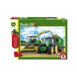 Puzzle JOHN DEERE 6195M + ensileuse 100 pièces 56315