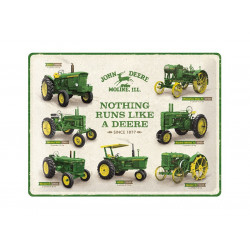 "Plaque en métal 30x40 JOHN DEERE ""Nothing runs like a deere"" 23263"