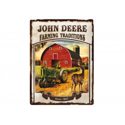 "Plaque en métal 30x40 JOHN DEERE ""Farming Traditions"" 23167"