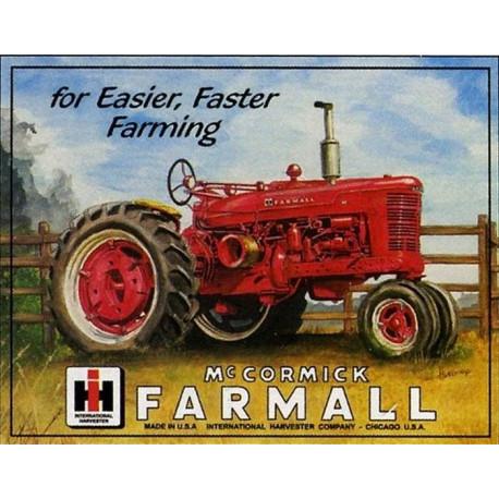 "Plaque en métal 31x40 FARMALL ""For easier faster farming"" 825"
