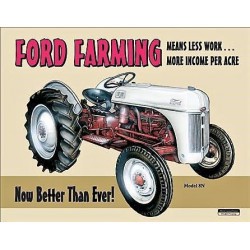 Plaque en métal 30x40 FORD FARMING 758