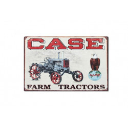 Plaque en métal 32x40 CASE FARM TRACTORS 1230