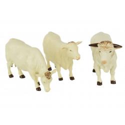 2 vaches 1 taureau CHAROLAIS 43240 BRITAINS 1/32