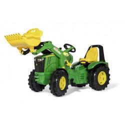 Tracteur à pédales X-Trac Prémium JOHN DEERE 8400R + pelle 651047 ROLLY TOYS