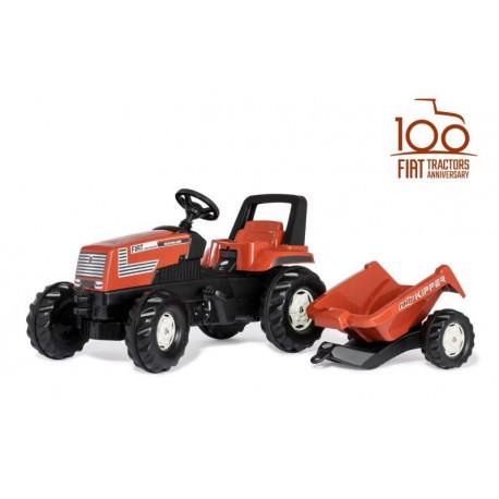 Tracteur à pédales FARMTRAC FIAT Centenario + remorque 601318 ROLLY TOYS