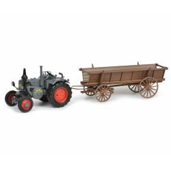 TRACTEUR LANZ Buldog + chariot SCHUCO 450770200