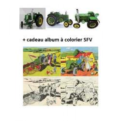 Pack 3 SOCIETE FRANCAISE VIERZON 201-302-551 + ALBUM A COLORIERREPLICAGRI 1/16