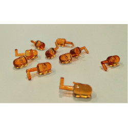 10 gyrophares orange DE27A fixation côté REPLICAGRI 1/32