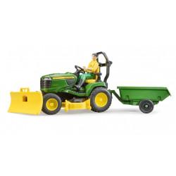 Tracteur tondeuse JOHN DEERE et son personnage 62104 BRUDER
