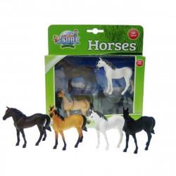 4 chevaux 570199 Kids Globe Farming 1/32