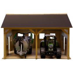 Hangar Matériel 2 espaces 610338 Kids Globe Farming 1/16