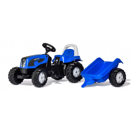 TRACTEUR A PEDALE RollyKid LANDINI REMORQUE 011841 ROLLY TOYS