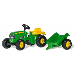 TRACTEUR A PEDALE RollyKid JOHN DEERE REMORQUE 012190 ROLLY TOYS