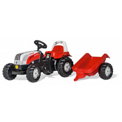TRACTEUR A PEDALE RollyKid STEYR REMORQUE 012510 ROLLY TOYS