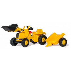 TRACTEUR A PEDALE RollyKid CAT Remorque Pelle 023288 ROLLY TOYS