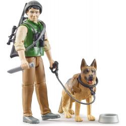 Garde forestier et son chien 62660 BRUDER 1/16