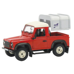 VOITURE MINIATURE LAND ROVER DEFENDER 90 ROUGE BRITAINS